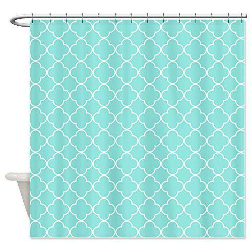 CafePress Aqua White Quatrefoil Shower Curtain - Standard White CafePress http://www.amazon.com/dp/B00MHD64H6/ref=cm_sw_r_pi_dp_uqWiub05RJ4NN