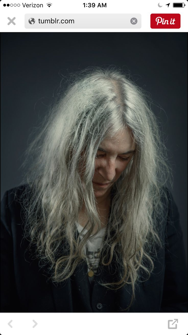 Patti Smith. She's so cool with her hair.