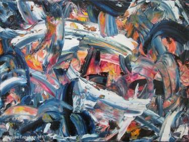 "Saatchi Art Artist Maryse Lapointe; Painting, ""Glissando 1 (SOLD)"" #art #art, #oiloncanvas, #abstract, #abstractexpressionism, #riopelle, #georgesmathieu, #artquebecois, #music, #oilpainting, #artistequébécoise, #abstrait, #expressionnismeabstrait, #maryselapointe, #saisons, #seasons, #dekooning, #borduas, #automatisme,  #tableauàl'huile,"
