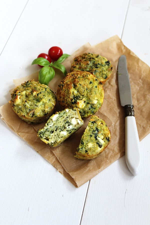 Couscous Feta Spinat Muffins