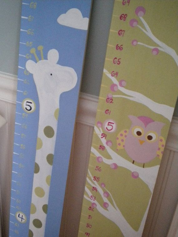 Wooden Growth Chart Personalized and by GypsyLaneDesigns on Etsy, $76.99