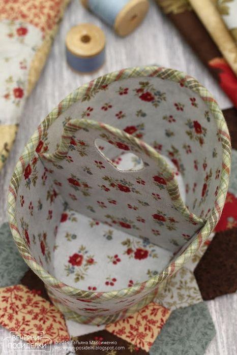 Кадочка и корзинка для рукоделия. Замечательные поделки из ткани (9) (466x700, 229Kb)