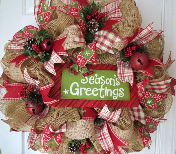Hey, I found this really awesome Etsy listing at http://www.etsy.com/listing/169490827/christmas-deco-mesh-wreath-holiday-mesh