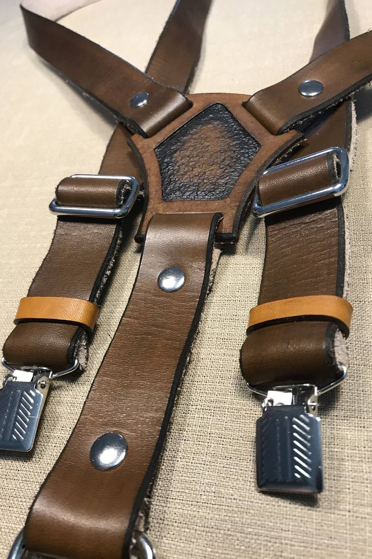 Dark Brown Leather Suspenders by RavenHornLeather on Etsy https://www.etsy.com/ca/listing/567567893/dark-brown-leather-suspenders