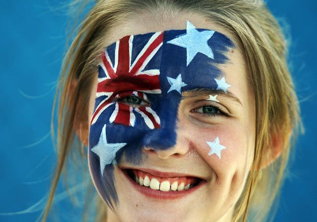 Australian Open tennis fans show their allegiances - Telegraph