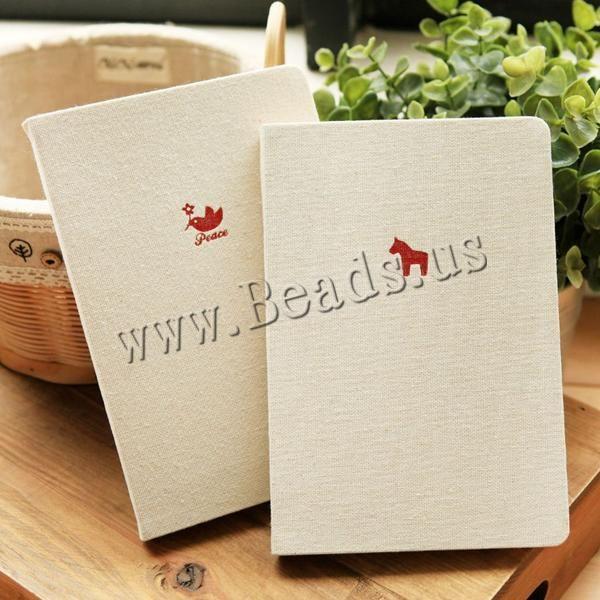 Papel Cuaderno, con Lino & Cinta de satén, Rectángular, mixto, 130x190x15mm, 20Unidades/Grupo, Vendido por Grupo,Abalorios de joyería por mayor de China