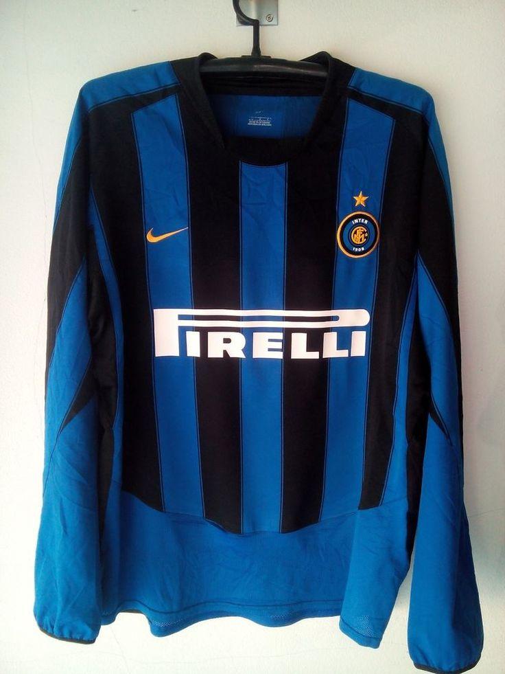 Trikot Jersey Nike Inter milan shirt L  long sleeve Italy calcio Authentic #Nike #InterMilan