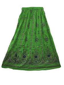 Lehenga Print Long Skirt Bohemian Fashiontrends Rayon Skirt | eBay