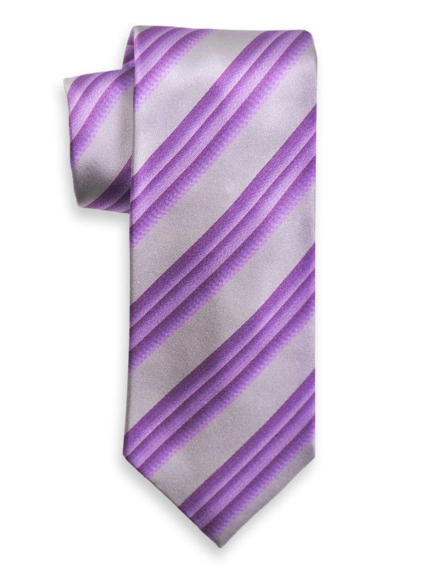 Boy's Tie 6593 Silver/Purple from