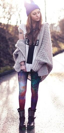 Galaxy Rainbow Leggings from Black Milk Clothing