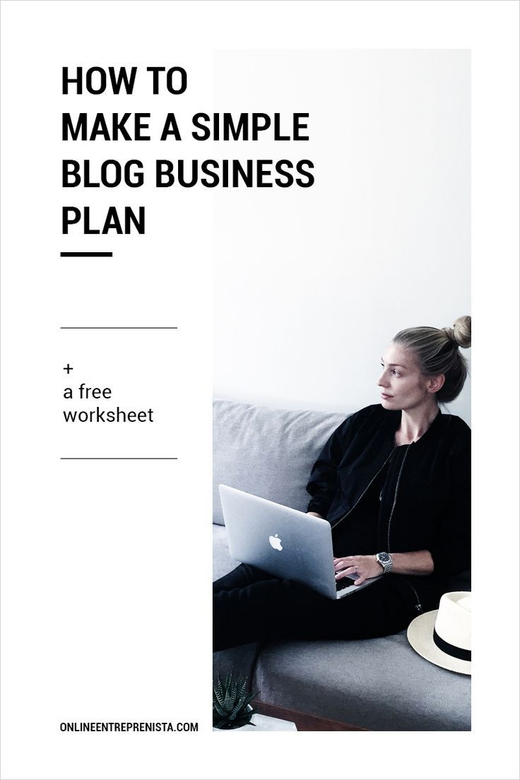 A 10 Step guide + worksheet on how to make a simple blog business plan — Online entreprenista minivideocam.com/...