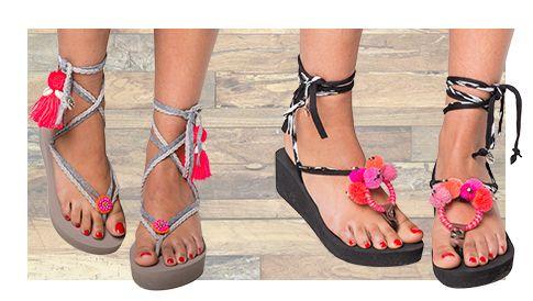 Dé hit onder de zon zijn de trendy damesslippers van Bandajanas. Stel je eigen unieke damesslippers samen in 3 stappen en ervaar hét ultieme vakantiegevoel.