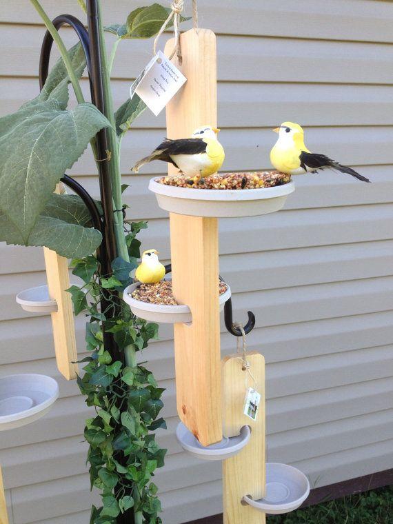 34 best homemade wood bird feeder images on pinterest for Unique homemade bird feeders