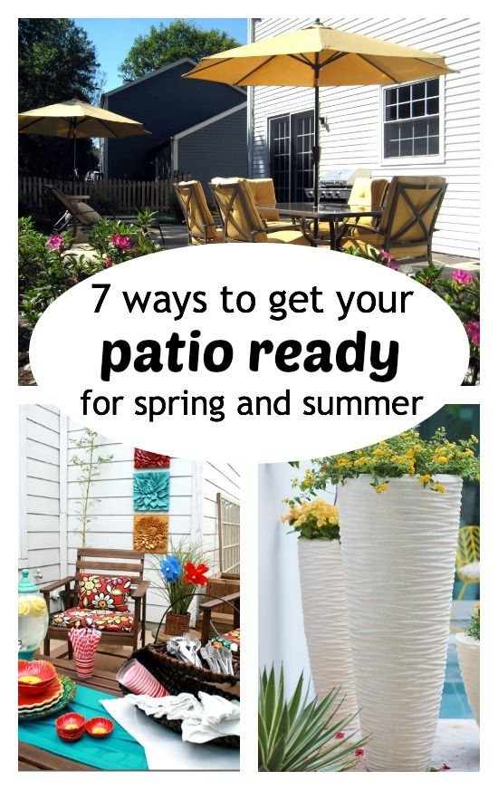 7 ways to get your patio ready for spring and summer - Tipsaholic.com