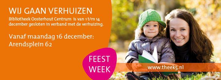 Feestweek! In de eerste week van 16 t/m 22 december vinden er vele activiteiten plaats in de bibliotheek! Op donderdag 19 december wordt de bibliotheek officieel geopend.