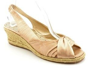 Bella Vita Sangria Too Women W Open Toe Canvas Beige Wedge Sandal.