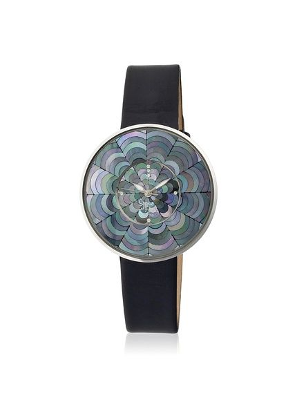 Sophie and Freda Women's SF1102 Venice Black Leather Watch at MYHABIT