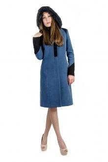 Jacheta din stofa albastra cu garnituri