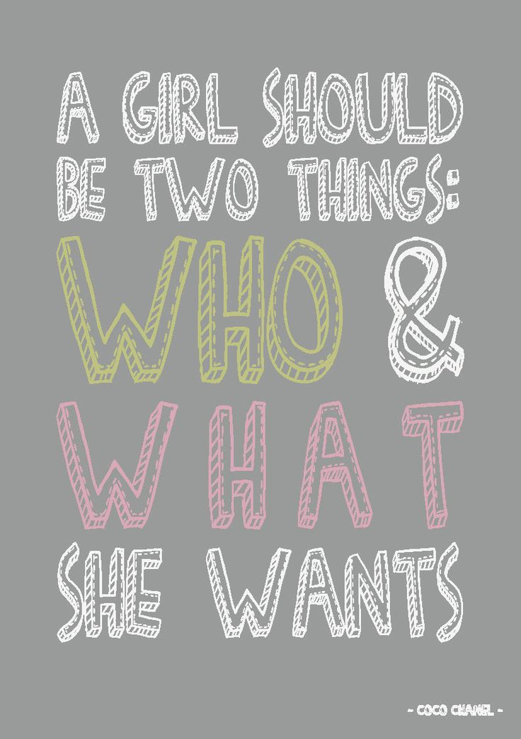 Citaten Coco Chanel : Quote postkaart a girl should be two things who and what