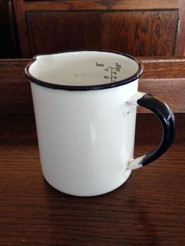 イギリスアンティーク ホーロー計量カップ(メジャーカップ) C7