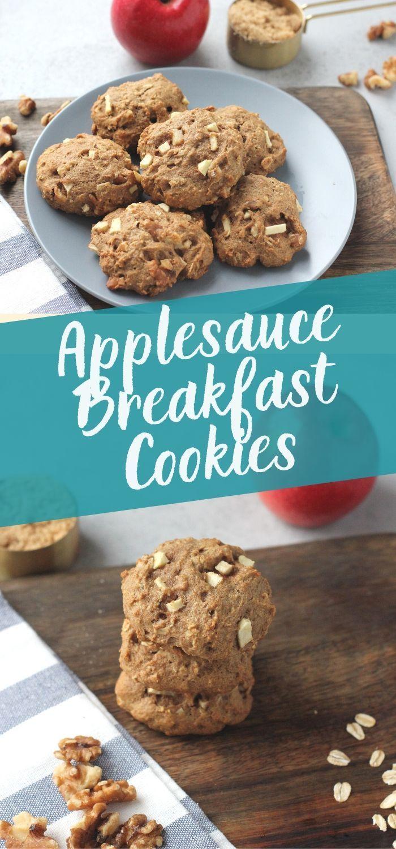 Applesauce Breakfast Cookies Recipe In 2020 Breakfast Cookies Applesauce Applesauce Cookies