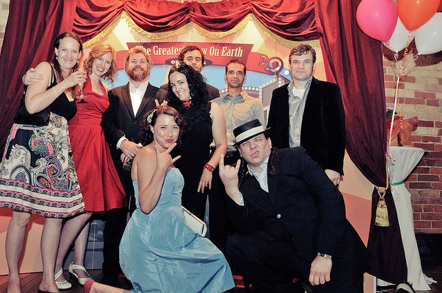 """Jessica and Peter's spectacular carnival-themed wedding: """"The Greatest Show On Earth"""" photo booth."""