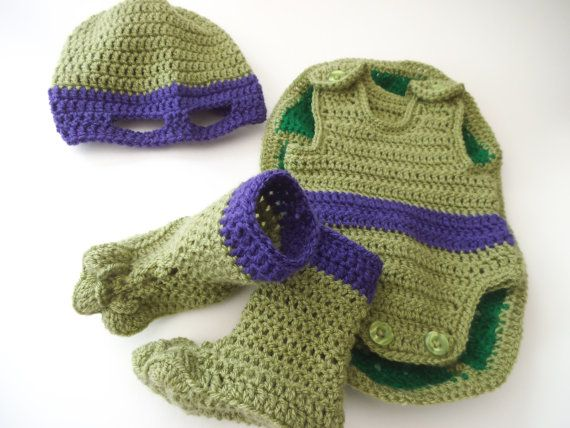 Pattern to Crochet Baby a Teenage Mutant Ninja by TeaCosyFolk