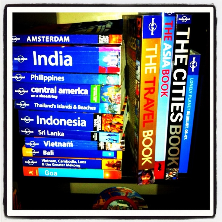 Lonely Planet guidebooks!   Research the ins & outs of a country before your big trip. Also great for picking up a few key phrases in the local language.