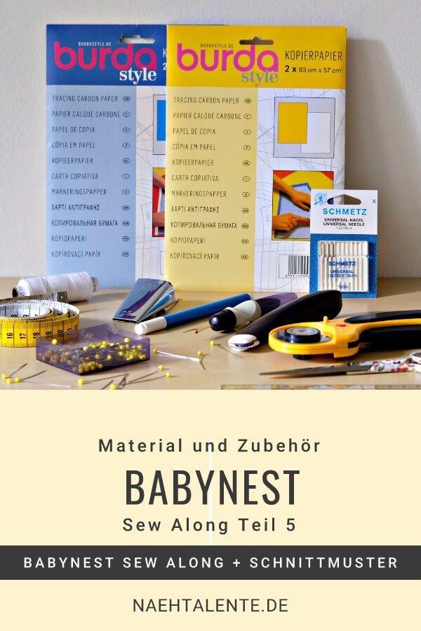 Babynest Nähkurs Teil 5 - Material und Zubehör   Babynest nähen ...
