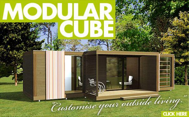 Cube garden accessory summer house hot tub house for Garden office cube