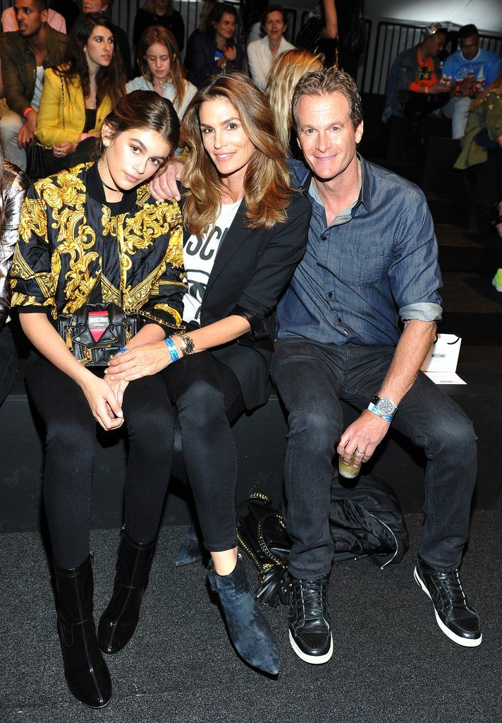 Cindy Crawford's Son Makes His Catwalk Debut, Has the Support of His Entire Family