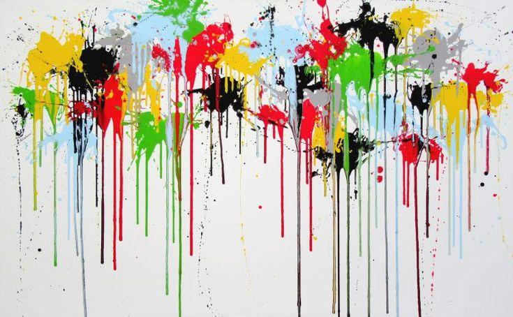 """Sympholy"" (100 x 160 cm), acrylics on canvas, by Isabelle Pelletane www.isabellepelletane.com"