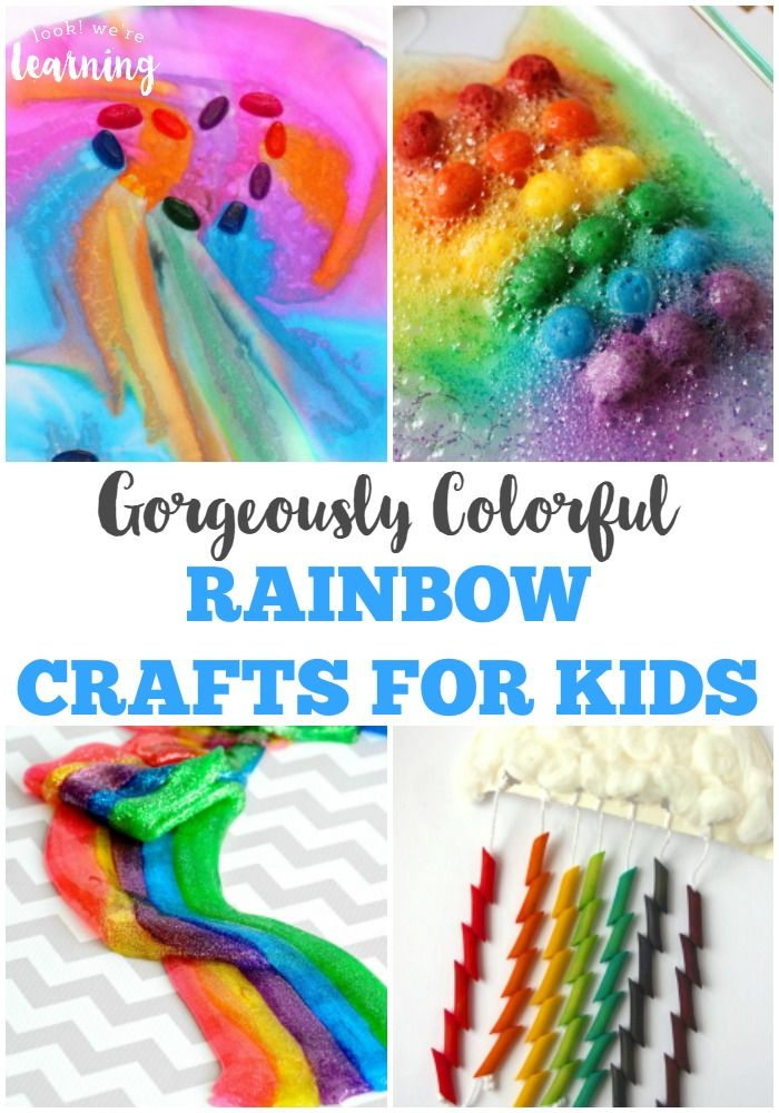 These gorgeously colorful rainbow crafts for kids are a fun way to add art and science to a spring unit study!