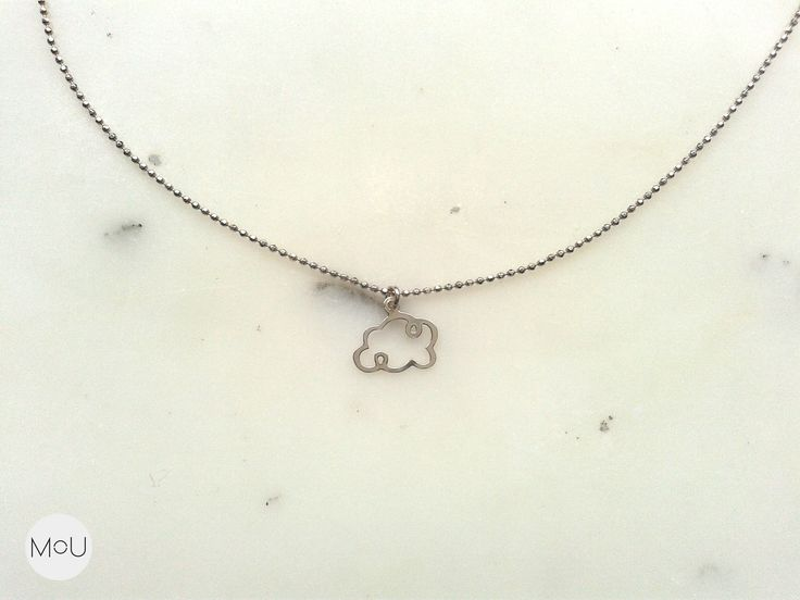 Cloud necklace by MOU