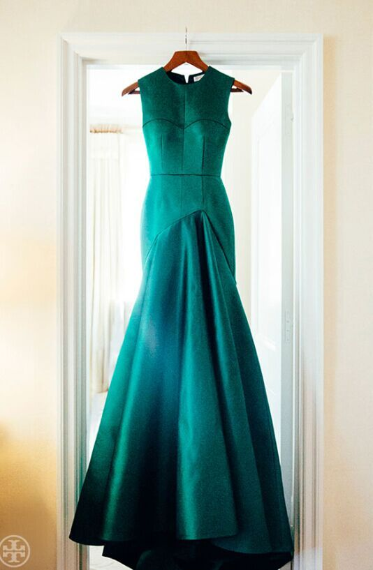 only $139 -mermaid emerald satin prom dresses evening gowns - use coupon code:BA002 to get $10 discount -Babyonlinedress.com