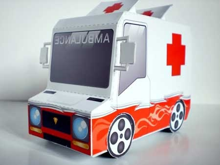 "Taco Truck Paper Toy - ""Ambulance"""