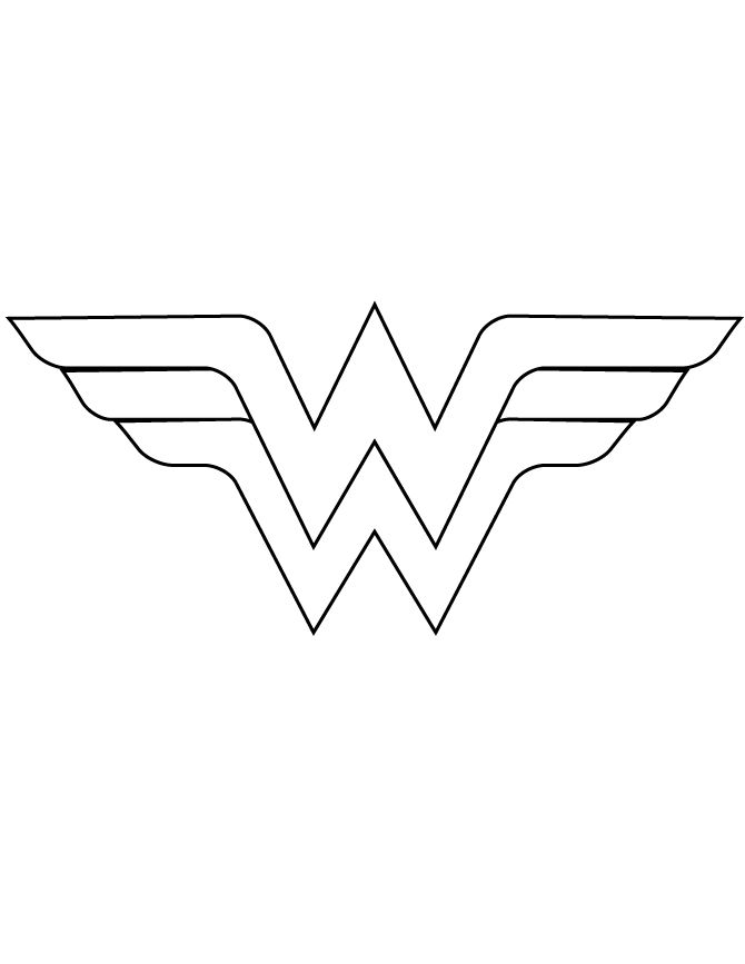 Wonder Woman Logo Template Cut Out Coloring Page | Holiday/party Ideas |  Pinterest | Wonder Woman Logo, Logo Templates And Wonder Woman