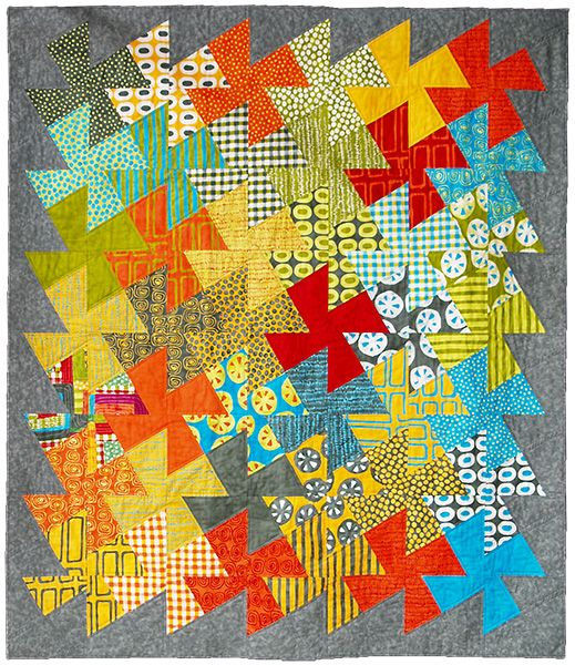 Twist and Shout by Vivian Muir.  Contemporary quilt (UK)