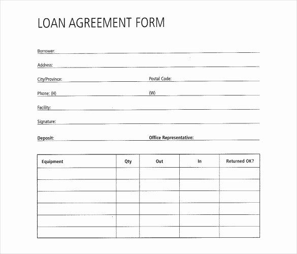 Simple Loan Application Form Template In 2020