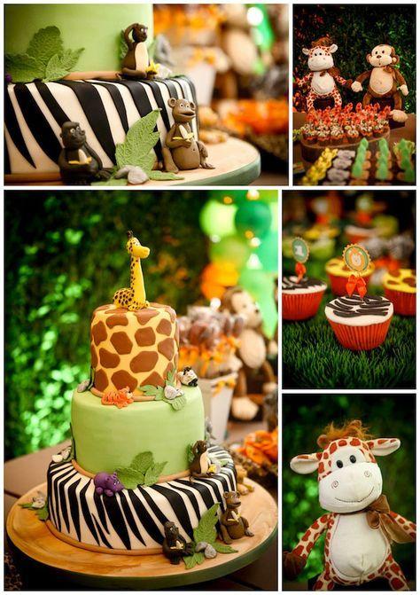 festa infantil decoracao safari
