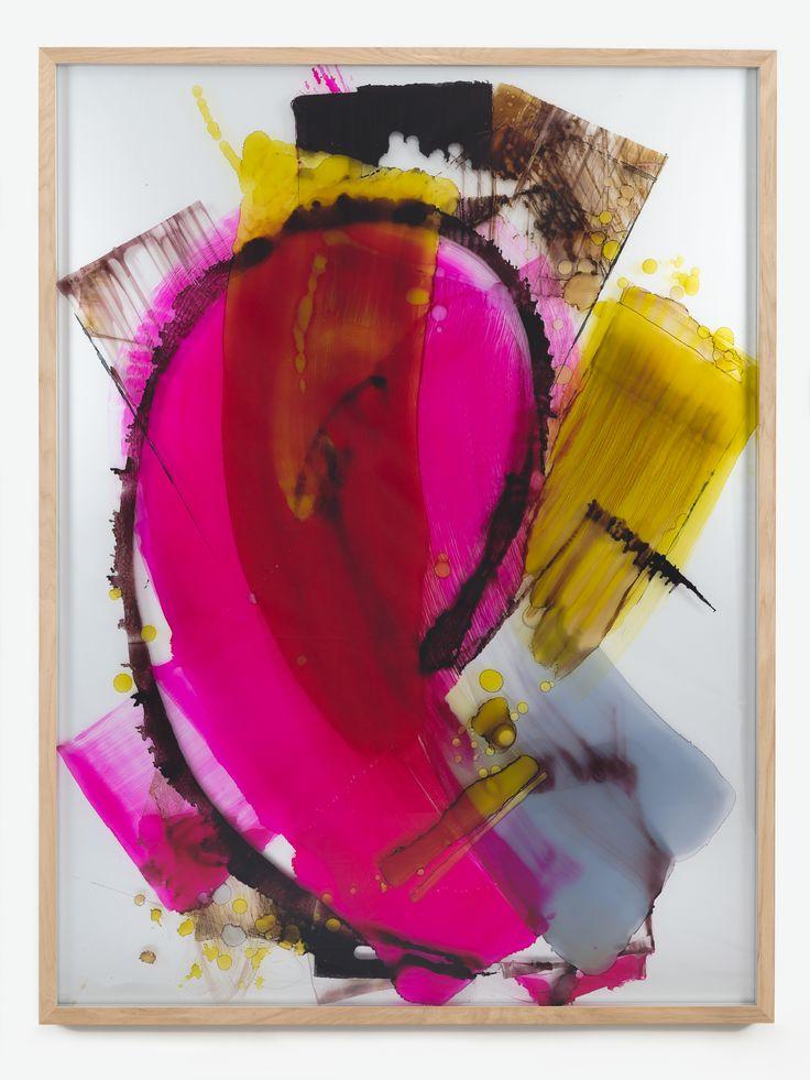 """David Renggli – """"I love you (Pale Male)"""", 2013 – ink behind glass, aluminium – 205 x 155 x 8,5 cm"""