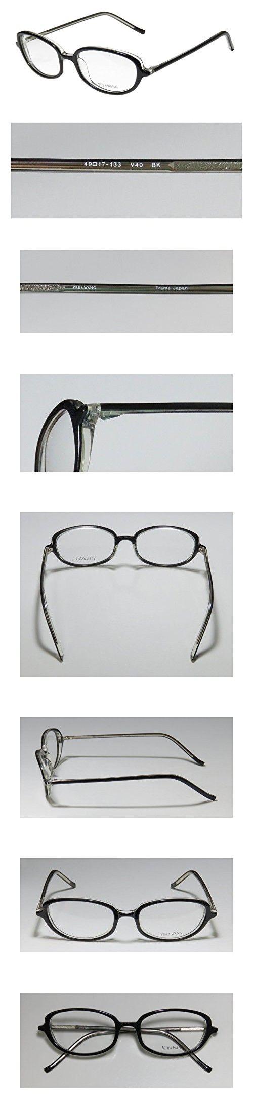 Vera Wang V40 Womens/Ladies Ophthalmic Inexpensive Designer Full-rim Eyeglasses/Eyeglass Frame (49-17-133, Black)