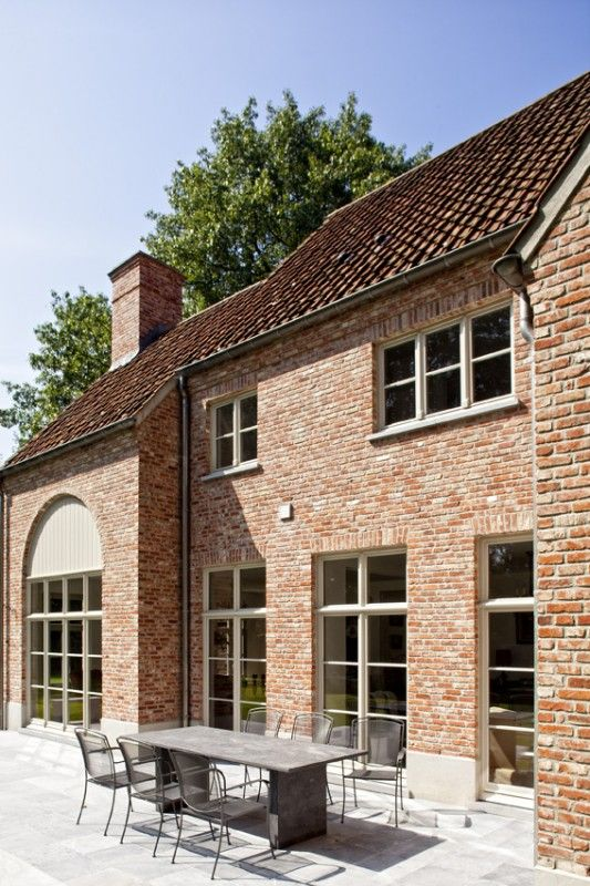 Architectenbureau gruwez arch belgian design pinterest belgian style exterior and - Small belgian houses brick ...