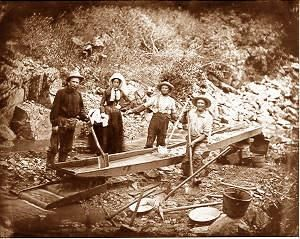 In 1848, gold was discovered by James W. Marshall at Sutter's Mill Coloma, California. The news slowly got out to other states and countries. By 1849 president James Polk declared a gold rush. Over 200,000 people from all over the world came in hope they would get lucky and strike gold. People would use simple techniques such as panning to get out of the rivers and streams. The gold rush lasted until 1855.