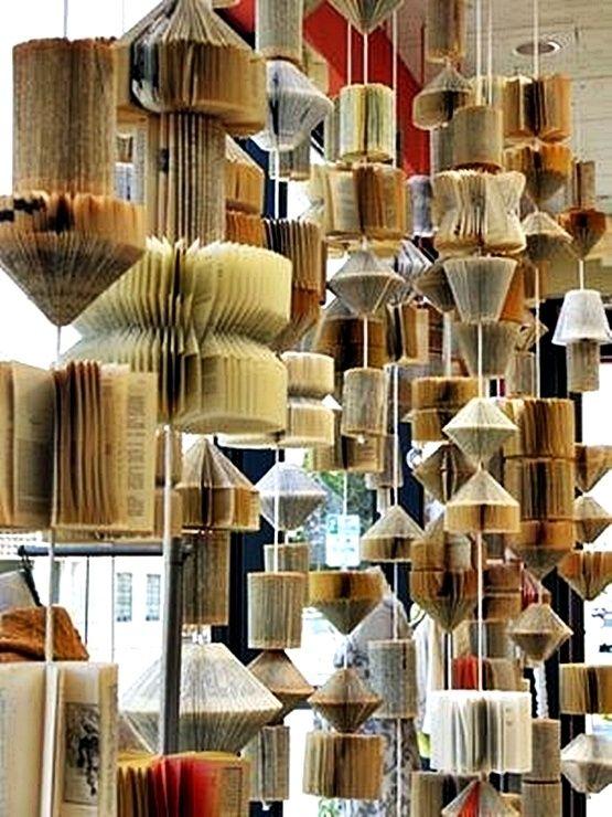 Book Art Anthropology window display