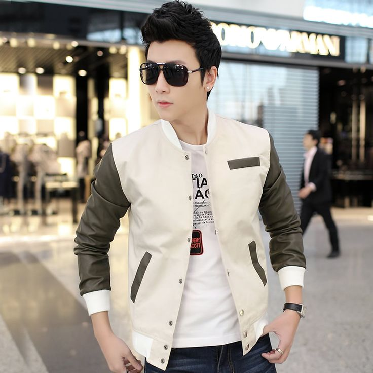 Find More Information about 2015 Spring Jackets Men Fashion Slim Fit Spliced Pu Leather Sleeve Men's Jackets and Coats Outwear Sport Mens Jacket Sale! ,High Quality ,China Suppliers, Cheap from E-Express on Aliexpress.com