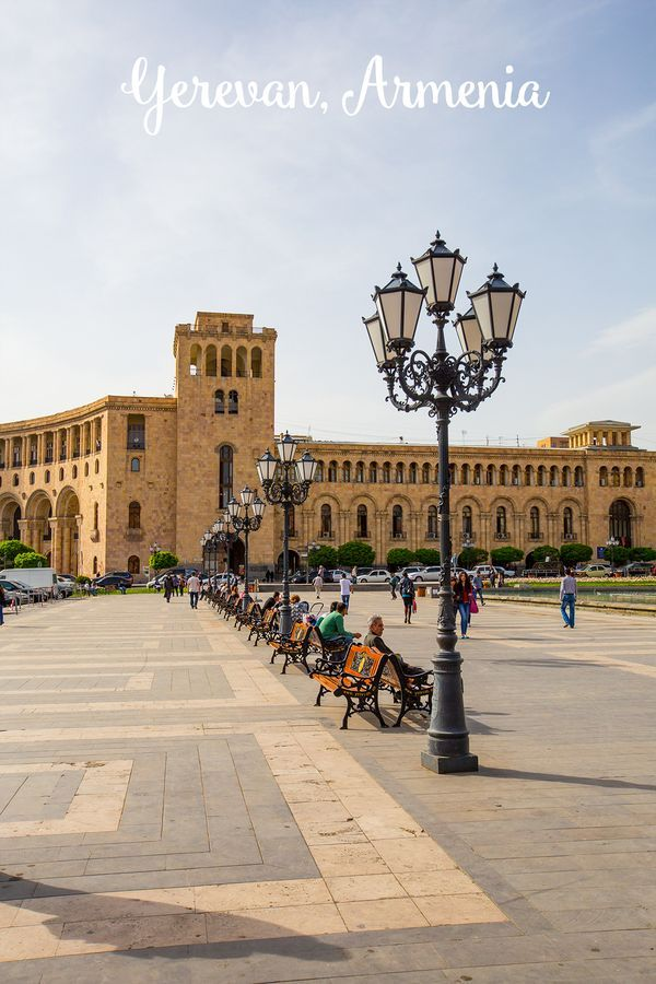 Yerevan, Armenia- the rose city! Love all the gorgeous architecture!
