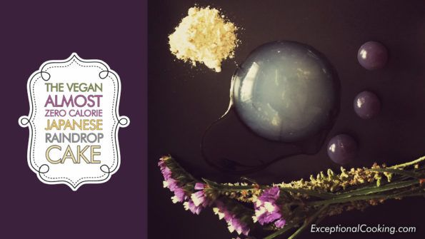 Vegan | Paleo | Gluten Free The amazing Raindrop Cake (Mizu Shingen Mochi).