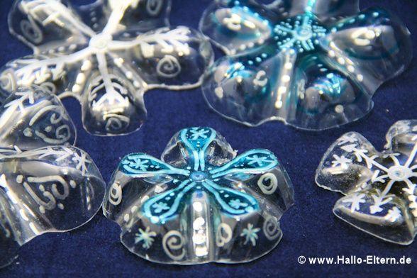 adventskalender dezember 9 schneeflocken aus der flasche weihnachten pinterest basteln. Black Bedroom Furniture Sets. Home Design Ideas