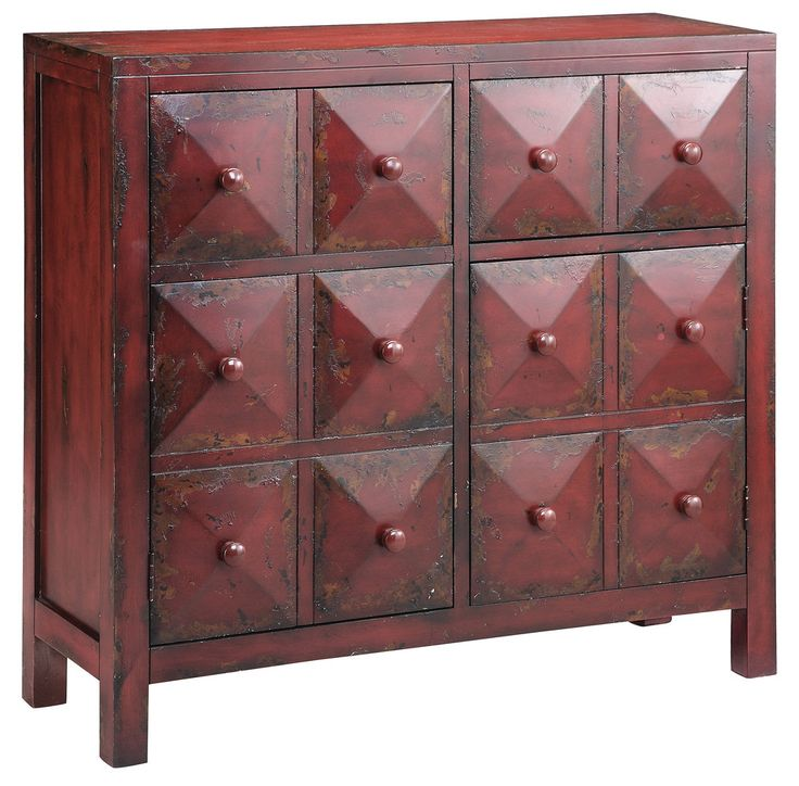 Marsala is also a beautiful tone of wood. Try an accent table or dresser, like this one, in the stunning shade.